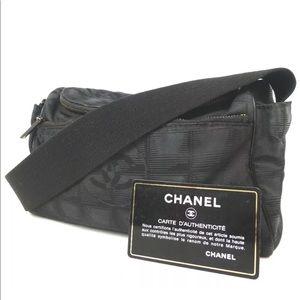 Chanel travel line jacquard Shoulder Bag